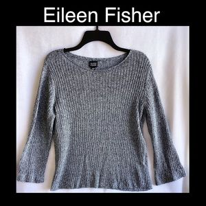 Eileen Fisher Blue Medium Lite Knit Sweater.
